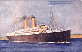 The R.M.S. Orvieto, Orient Line, was an ocean Liner that travelled between Europe and Australia and was commandeered to carry troops throughout the war years. After the war, it carried ordinary civilians like Tiney Flynn.
