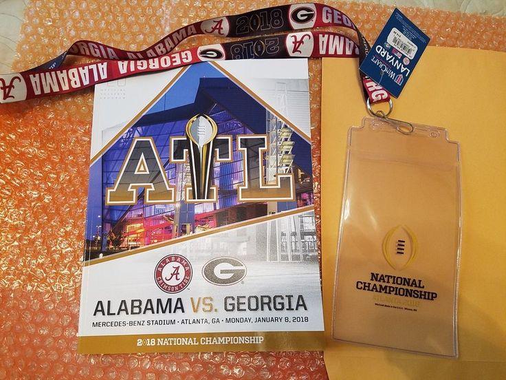 2018 College Football National Championship Program PLUS Lanyard/Ticket holder
