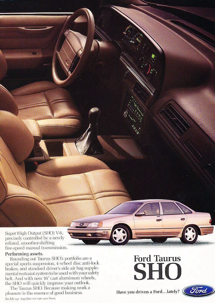 1991 Ford Taurus SHO Ad.