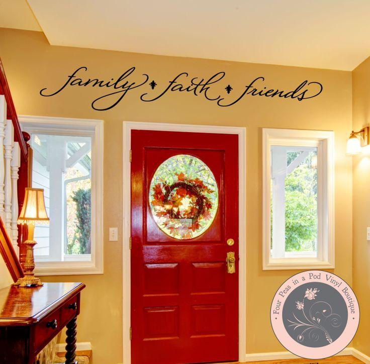 Wall Decal for the Home  Faith Family by FourPeasinaPodVinyl, $15.00