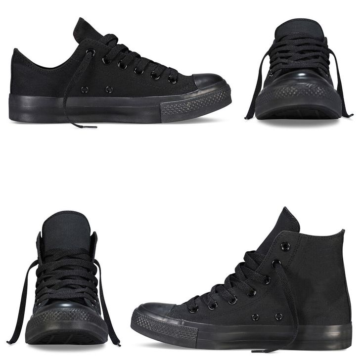outlet online cheap best shoes Total Black Men's Sneakers High Heel Women's Sneakers ...