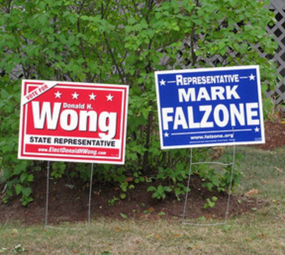We make everyday political yard signs here at Printing Fly!