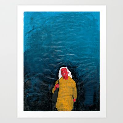 Og de takker Deg for de er ditt utvalgte folk, mens andre skal omkomme Art Print by Plasmodi - $21.00