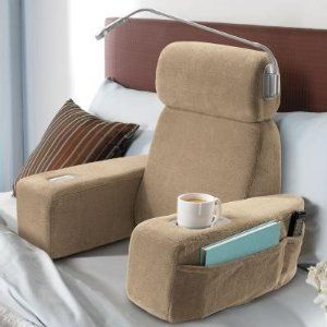armchair pillow with cupholders! perfect for college dorms