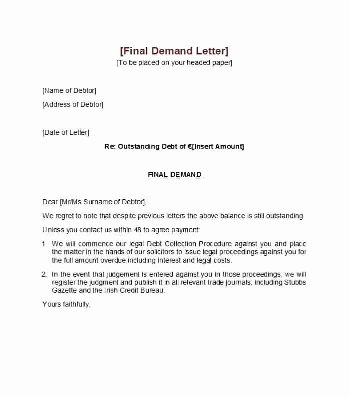Letter Of Demand Template Free Lovely 40 Best Demand Letter Templates Free Samples Template Lab Letter Templates Free Lettering Simple Cover Letter Template