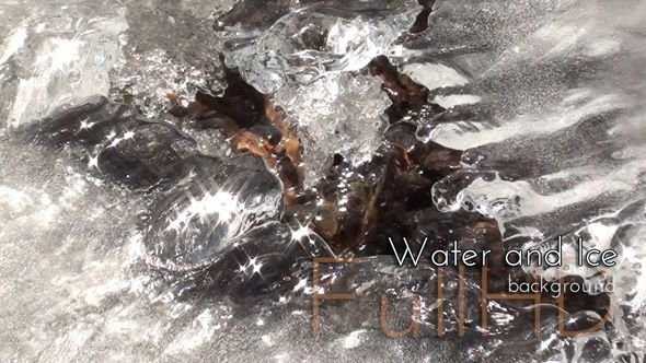 Water and Ice,  #water #ice #stream #spring #videohive #thraw