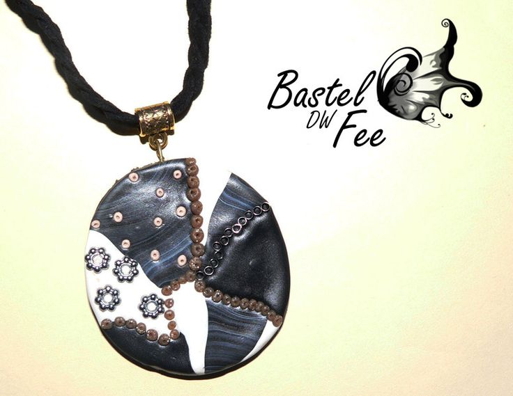 Kollektion Mandala *Steiniger Weg*  von Bastel-DW-Fee auf DaWanda.com #Basteln  #Polymer Clay #Kette #Ethno #Goa #Hippie #Boho #Bohemian #Leder #rund #groß #Mosaik