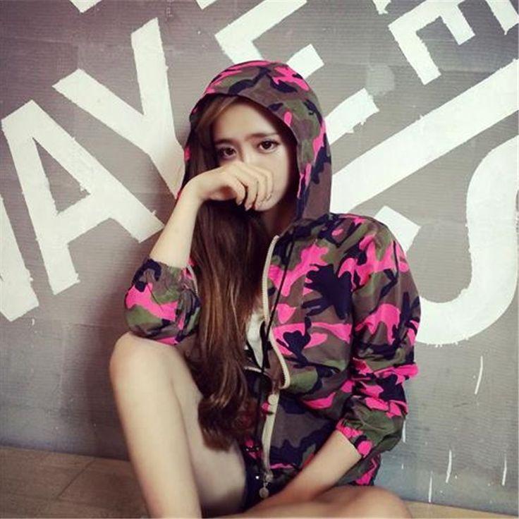 64.79$  Buy here - http://ali3tg.worldwells.pw/go.php?t=32716047042 - Robe Albornoz Infantil For Children Peignoir Enfant 2016 Summer New Loose Thin Coat Sunscreen Camouflage Hooded Cardigan Female  64.79$