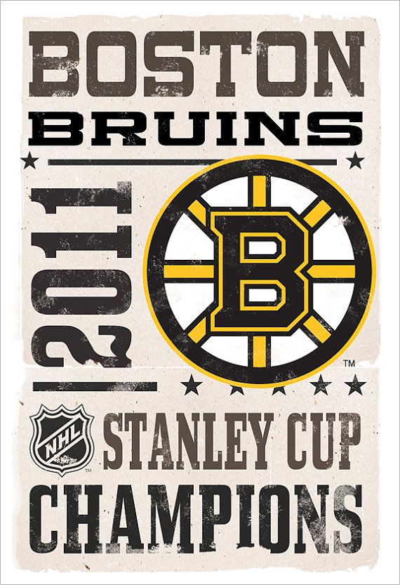 Boston Bruins Stanley Cup Champs  13x19  print by aswegoArts, $21.50