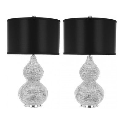 New Safavieh LITA SET Nicole Bead Lamp Set of