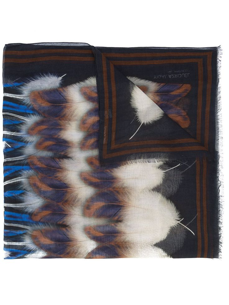 YIGAL AZROUËL YIGAL AZROUEL - FEATHER BLANKET SCARF . #yigalazrouël #