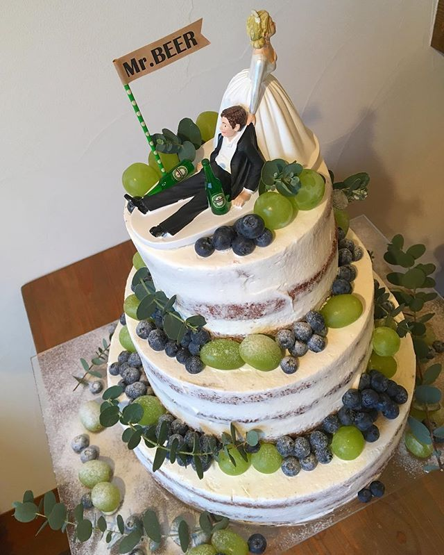congratulations!! #wedding#weddingcake#cake#ウエディング#ウエディングケーキ#ネイキッドケーキ#富山#富山cotie#cotie#congratulations#toyama#happywedding