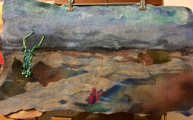 An undersea felted landscape I made for Christmas 2016