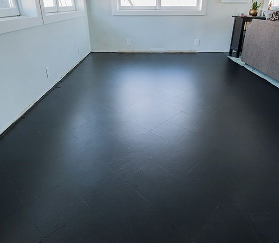 How To Paint Tile Floors Like A Pro Flooring Ideas Floor It Black In 2018 Pinterest Painting Tiles And