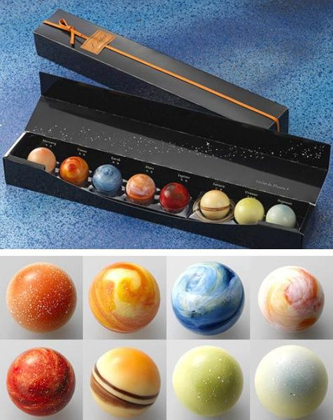 Solar system chocolate, this is awesome!