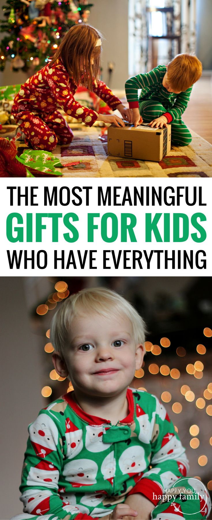 This gift guide for kids is EPIC! Most kids' gifts will end up forgotten. But here are 33 meaningful gifts they'll treasure for a very long time. This list is especially helpful if you're looking for non-toy gifts for kids for Christmas or birthdays. The best part: Your kids will FLIP for these presents! #giftguide #giftsforkids #kidsgifts #christmasgiftsforkids