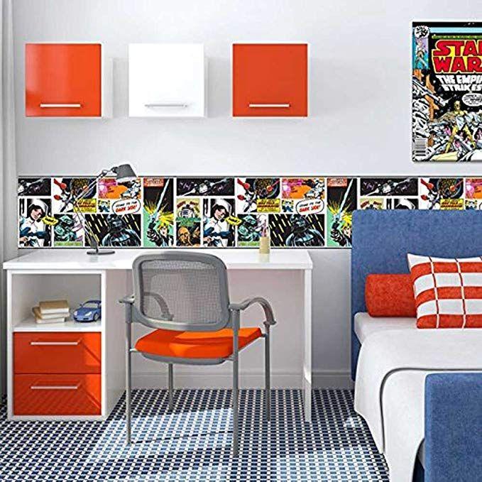 Star Wars Cartoon Frise Papier Peint Amazon Fr Cuisine Maison