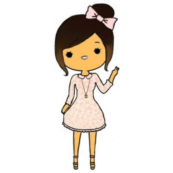 Chibis Liked On Polyvore Featuring Chibis Fillers