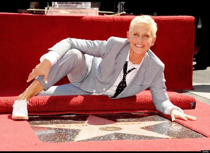 Ellen got a star this month! Sept 4th 2012: Famous Vegans, Celebrity Photos, Vegan Celebrities, Rare Celebrity, People