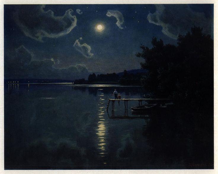 Лунная ночь на Днестре. Из цикла «Пейзажи Молдавии»