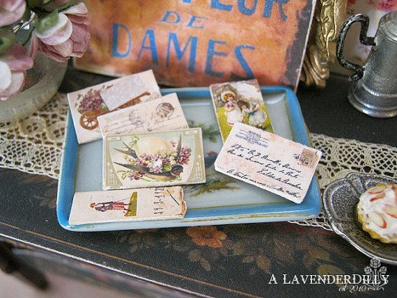 Distressed/Vintage Set of Postcards for by ALavenderDilly on Etsy