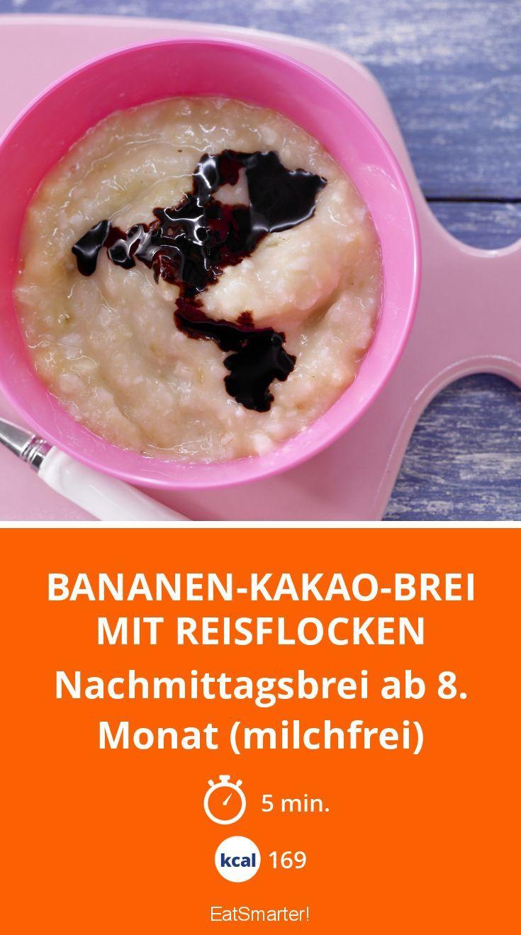 Bananen-Kakao-Brei mit Reisflocken - Nachmittagsbrei ab 8. Monat (milchfrei) - smarter - Kalorien: 169 Kcal - Zeit: 5 Min. | eatsmarter.de