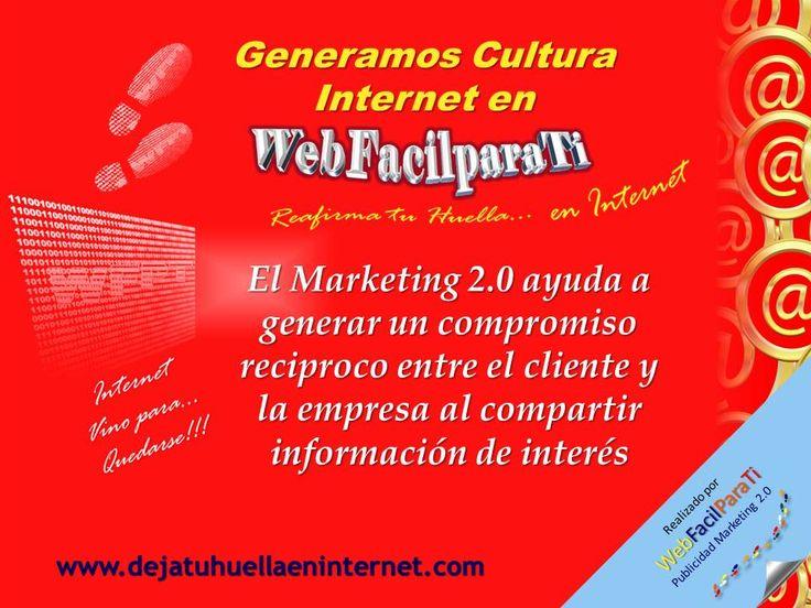 Aporte Informativo de WebFacilParaTi. Ser conocido a lo largo y ancho de Internet, que los prospectos adecuados para su empresa viviten su página, es realmente el objetivo principal del Marketing 2.0.