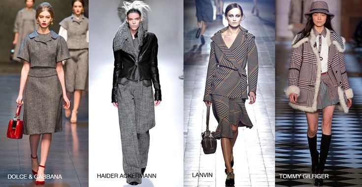 Menswear Fabrics Loving menswear inspired garments? Then you'll love these patterned coats and outfits prettified with herringbone, houndstooth, pinstripes, Prince of Wales checks patterns.  Style inspiration: Haider Ackermann, Lanvin, Tommy Hilfiger, Rag & Bone, Dolce & Gabbana, Belstaff