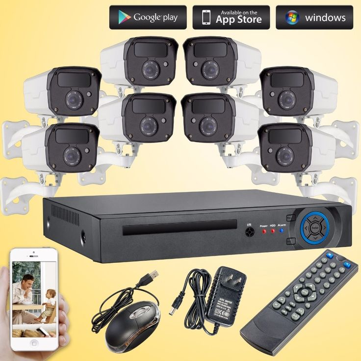 339.99$  Buy here - http://ali33b.worldwells.pw/go.php?t=32753088244 - 1080P 2.0MP AHD Outdoor Camera 8CH DVR CCTV Security System Invisible 3000TVL 2 Array IR Night Vision IP Camera WIFI CCTV System