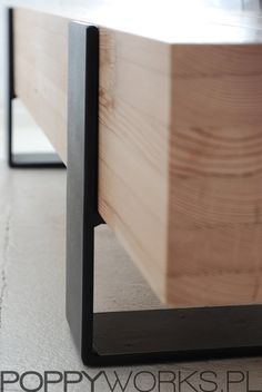Handmade contemporary coffee table/ bench. Solid by Poppyworkspl