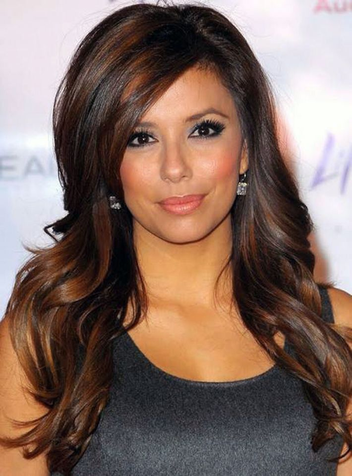 Color  Dark brown hair with light brown low lights