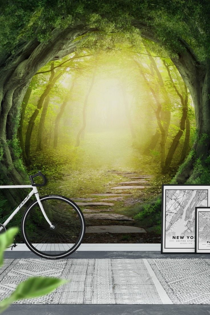 90 best forest wall murals images on pinterest forest tunnel wall mural wallpaper