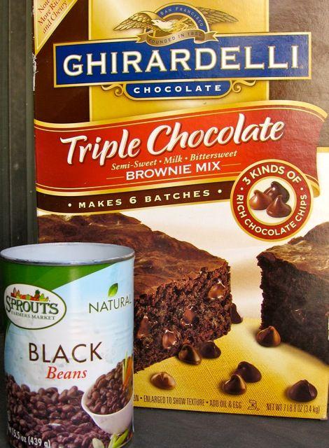 Ghirardelli Brownie Mix & Black Beans