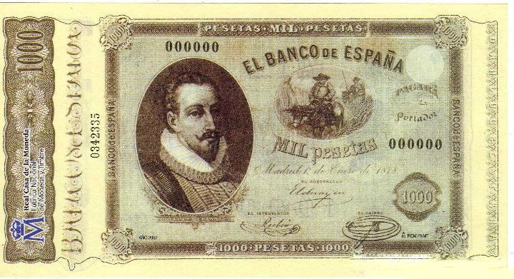 Billetes antiguos españoles- 1878- 1.000 pesetas, anverso