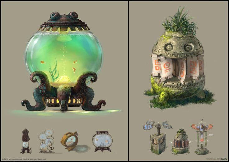 Props01 Picture  (2d, fantasy, still life, aquarium)