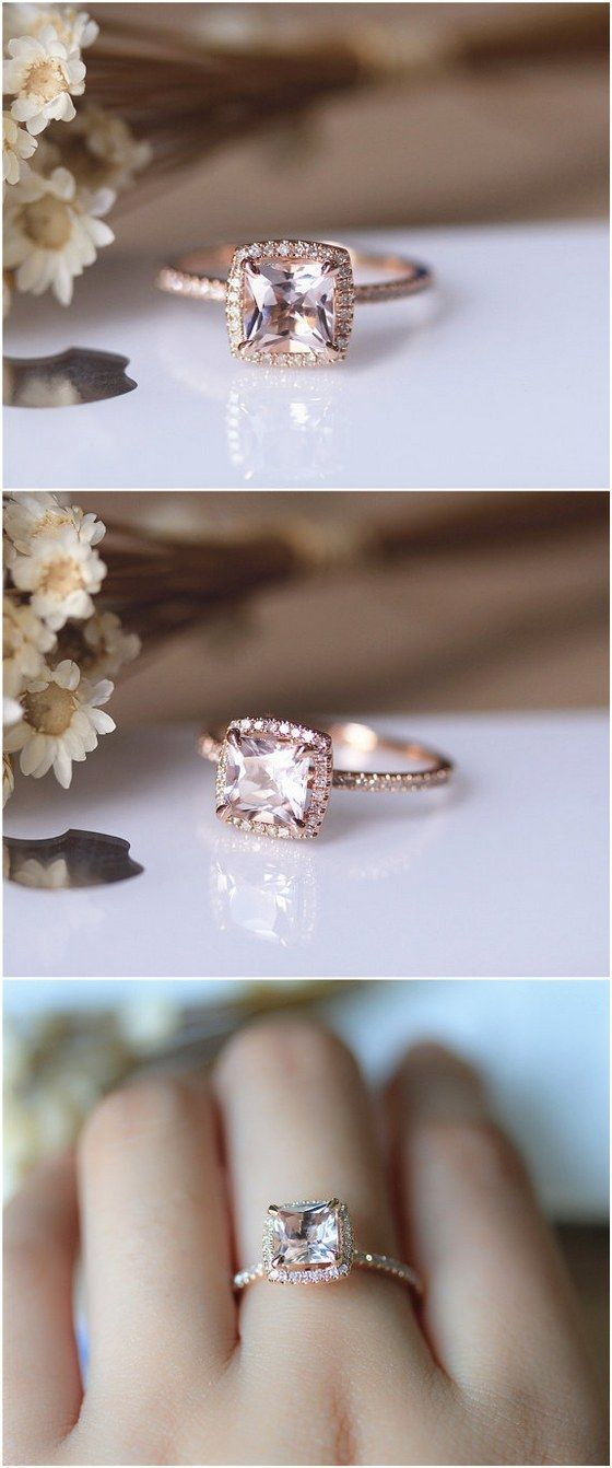 Best 25 Princess cut wedding rings ideas on Pinterest