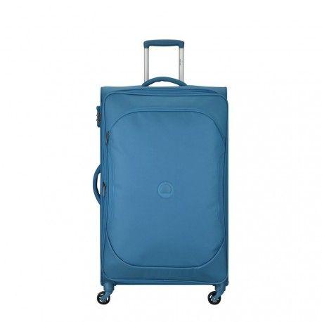 Maleta Delsey U-LITE CLASSIC 2 expandible 79cm azul cyan