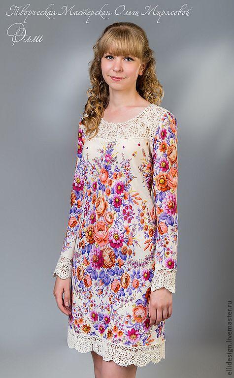 платье из ПП платков
