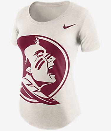 NCAA Florida State Seminoles Ladies Nike Nameplate Boyfriend Tri-Blend T-Shirt