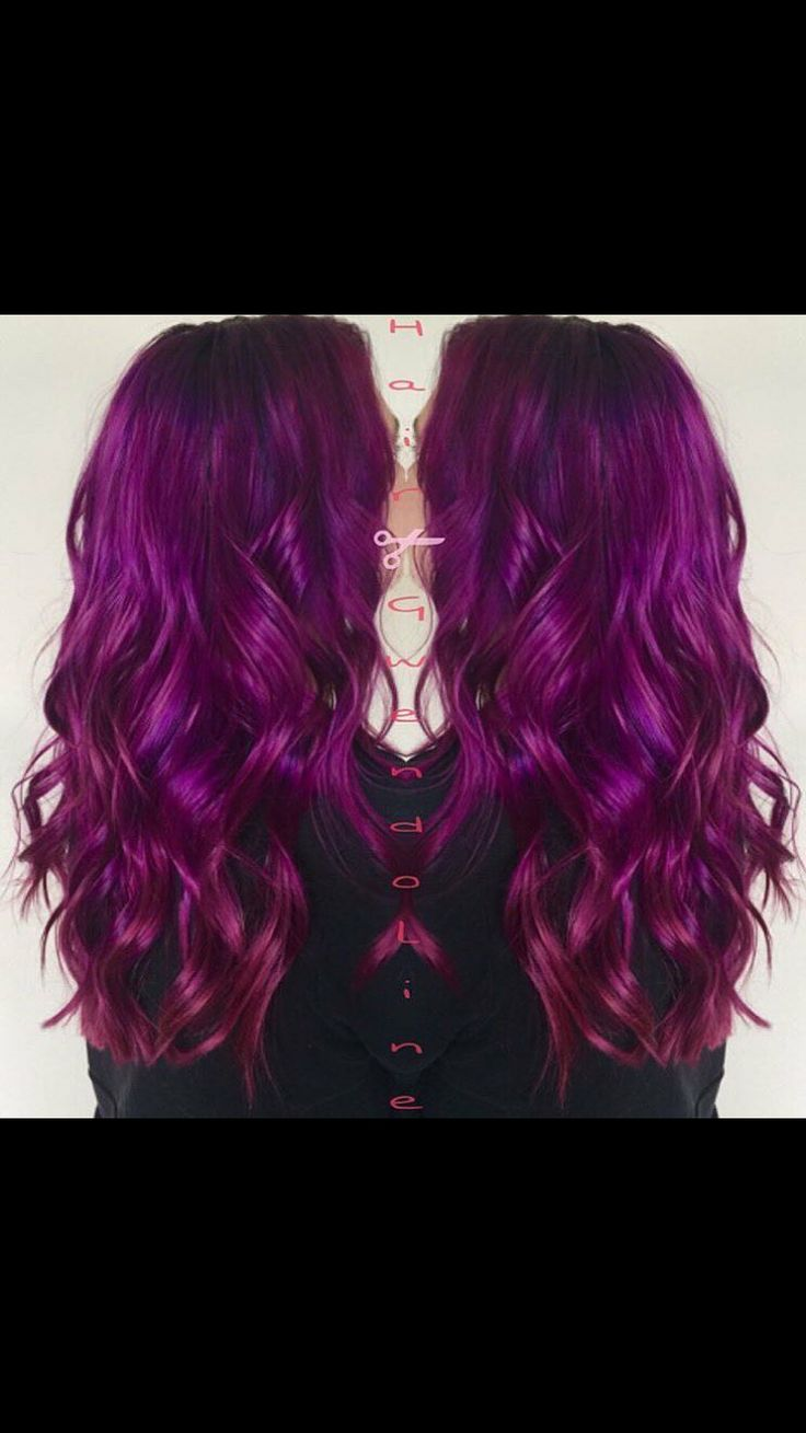 Arctic Fox Purple Rain at the root melted into a combo of Violet Dream and Virgin Pink!