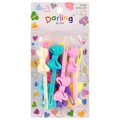 Hair Barrettes with the Balls | Kids Colorful Plastic Hair Barrettes Hair Clips 20Pcs ...