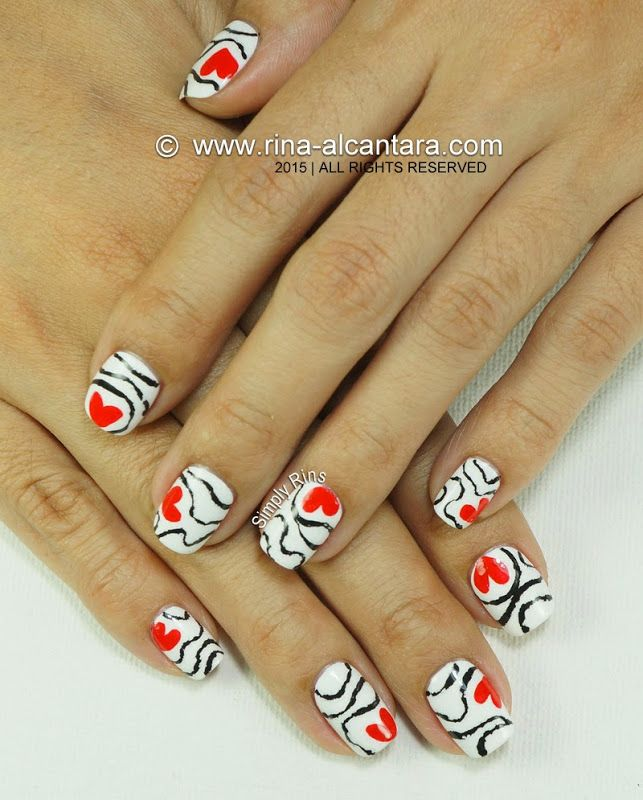 Accidental Love Nail Art Design by Simply Rins #nailart #valentinesnailart