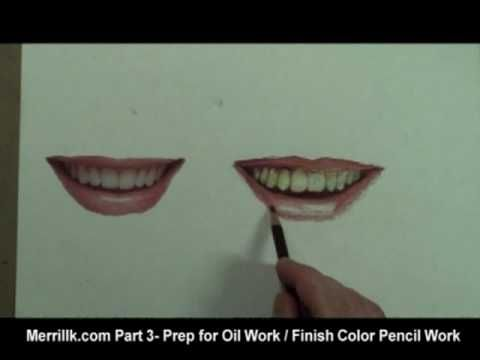 How to Draw a Smile, Mouth, Lips, Teeth - YouTube
