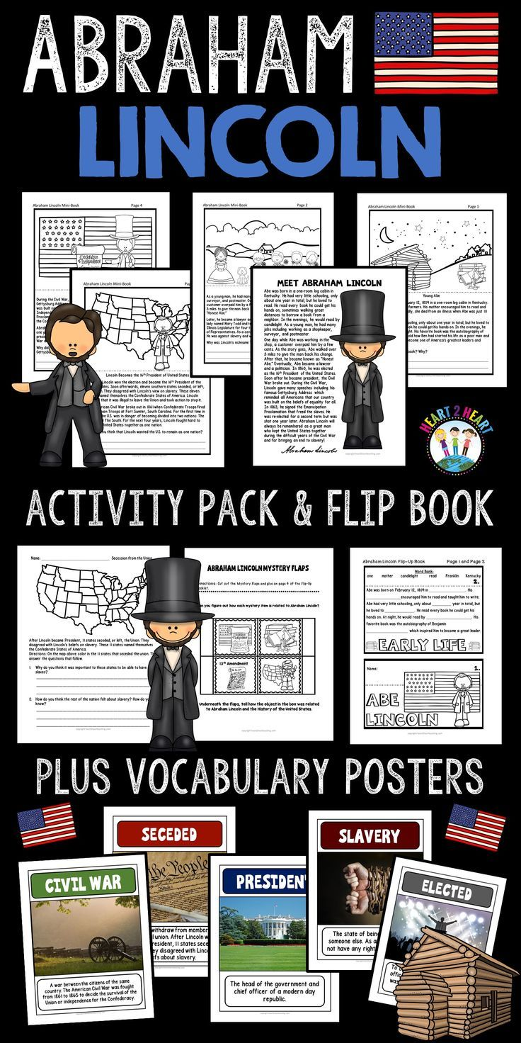 Presidents Day The Life Story Of President Abraham Lincoln Activity Pack Abraham Lincoln Life Presidents Social Studies Resources