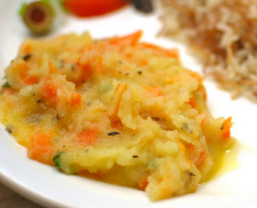 Purê de Batata com Cenoura (vegana)