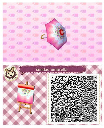 Sundae Umbrella by Quirkberry - Animal Crossing: New Leaf