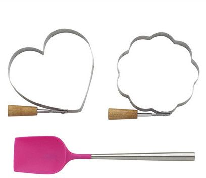 Kate Spade All In Good Taste Pancake Molds & Spatula 3-Piece Set