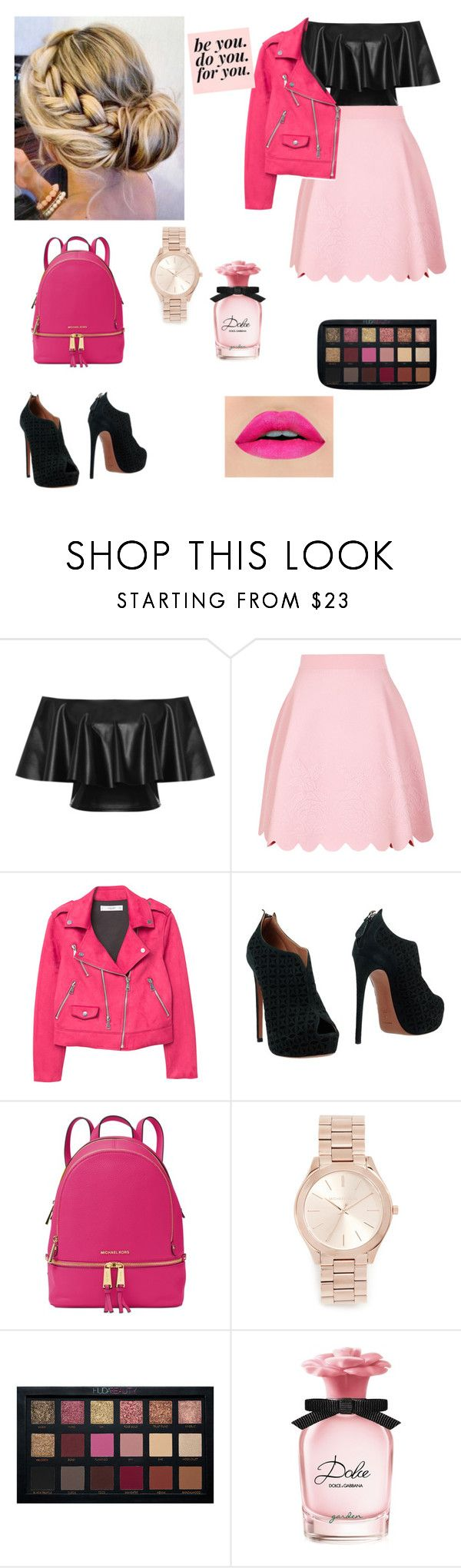 """Pink Ladies- Grease"" by shigleason ❤ liked on Polyvore featuring WearAll, Alexander McQueen, MANGO, Alaïa, Michael Kors and Dolce&Gabbana"