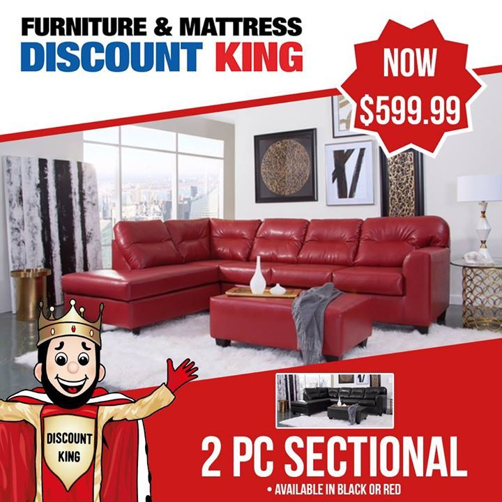 Express Yourself With An Bright Edgy Red Sectional As Your Living Room S Focal Point It S S Mattress Furniture Discount Mattresses Discount Furniture Stores
