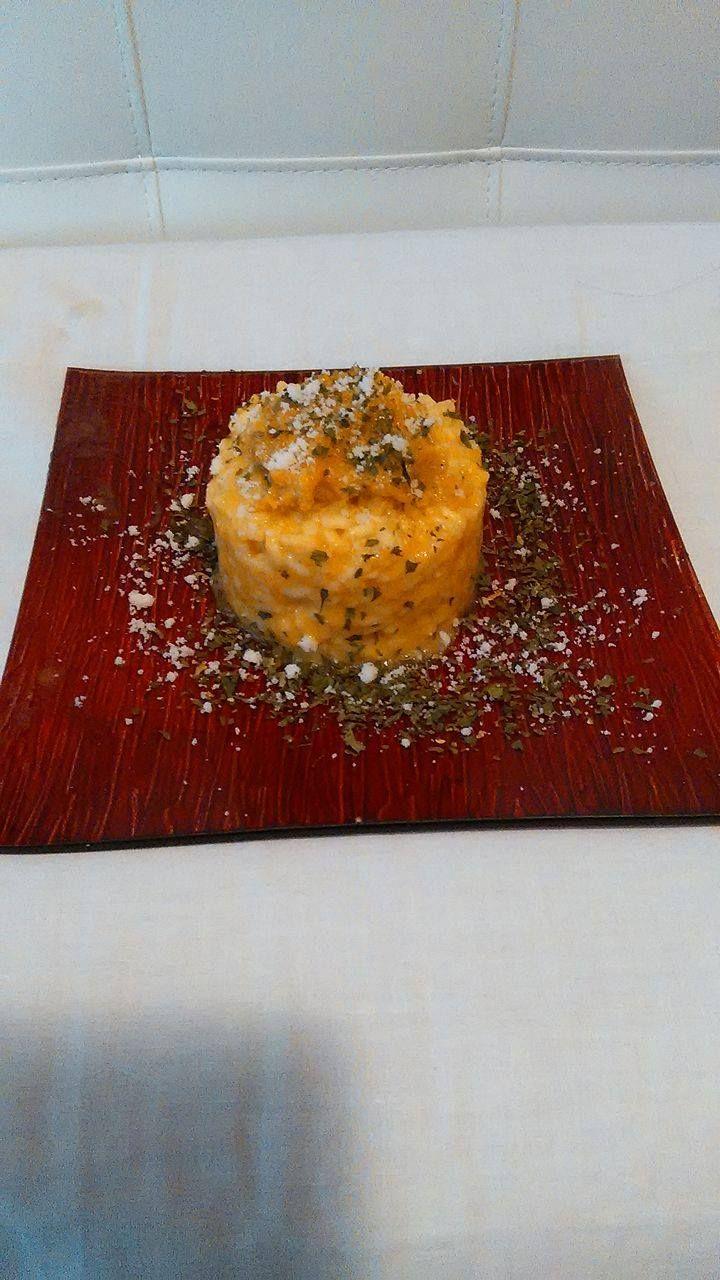risotto alla zucca e formaggi